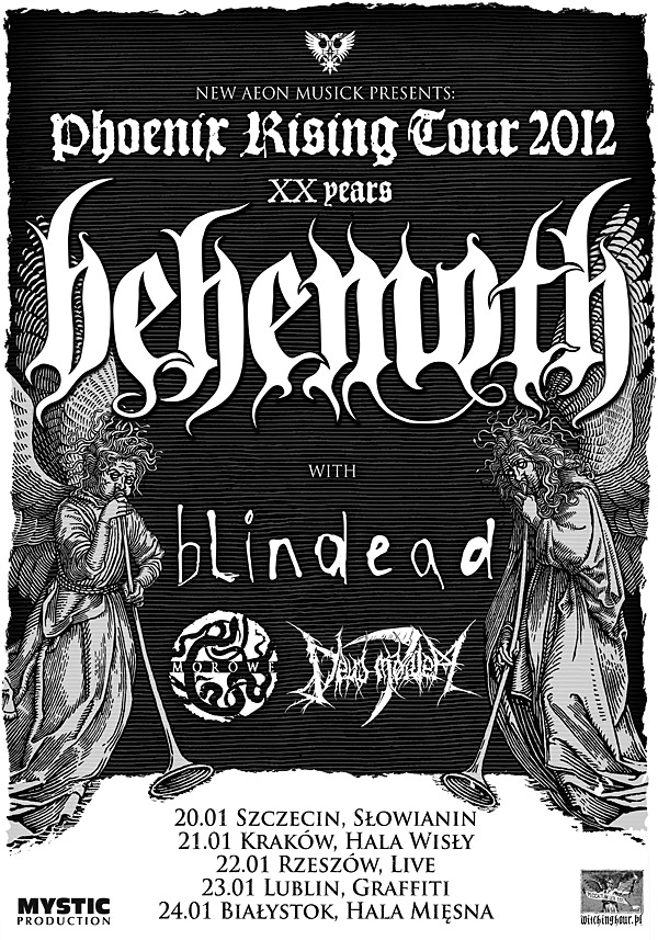 Plakat trasy Phoenix rising tour 2012